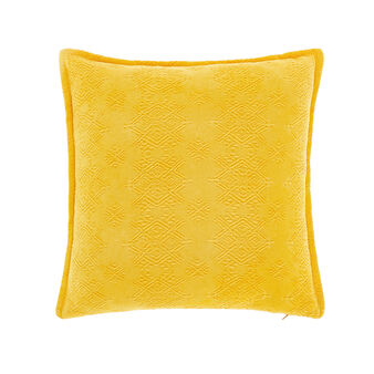 Solid colour piquet cushion