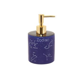 Ceramic soap dispenser with constellation motif