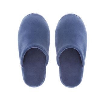 Solid colour fleece slippers