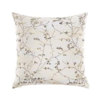 Cushion with floral foil print 45x45cm