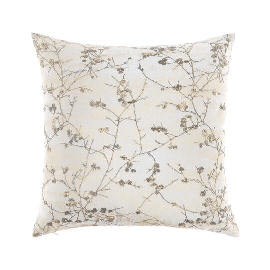 Cushion with floral foil print 45x45cm
