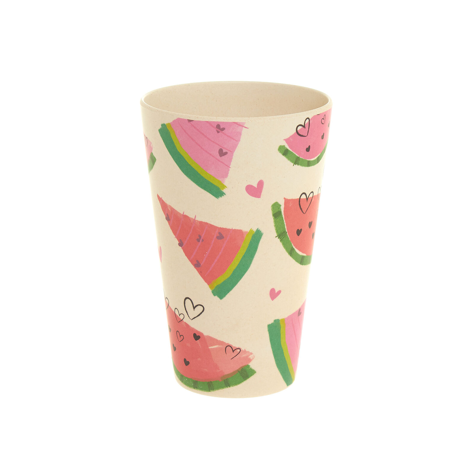 Watermelon  water glass in bamboo fibres