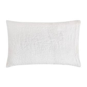 Plain pillowcase in 145 g linen