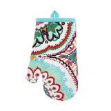 Oven mitt in 100% cotton with abstract print