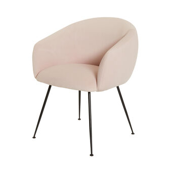 Light Pink small velvet armchair