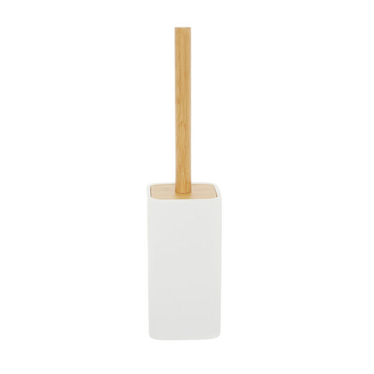 Linea toilet brush holder with bamboo detail