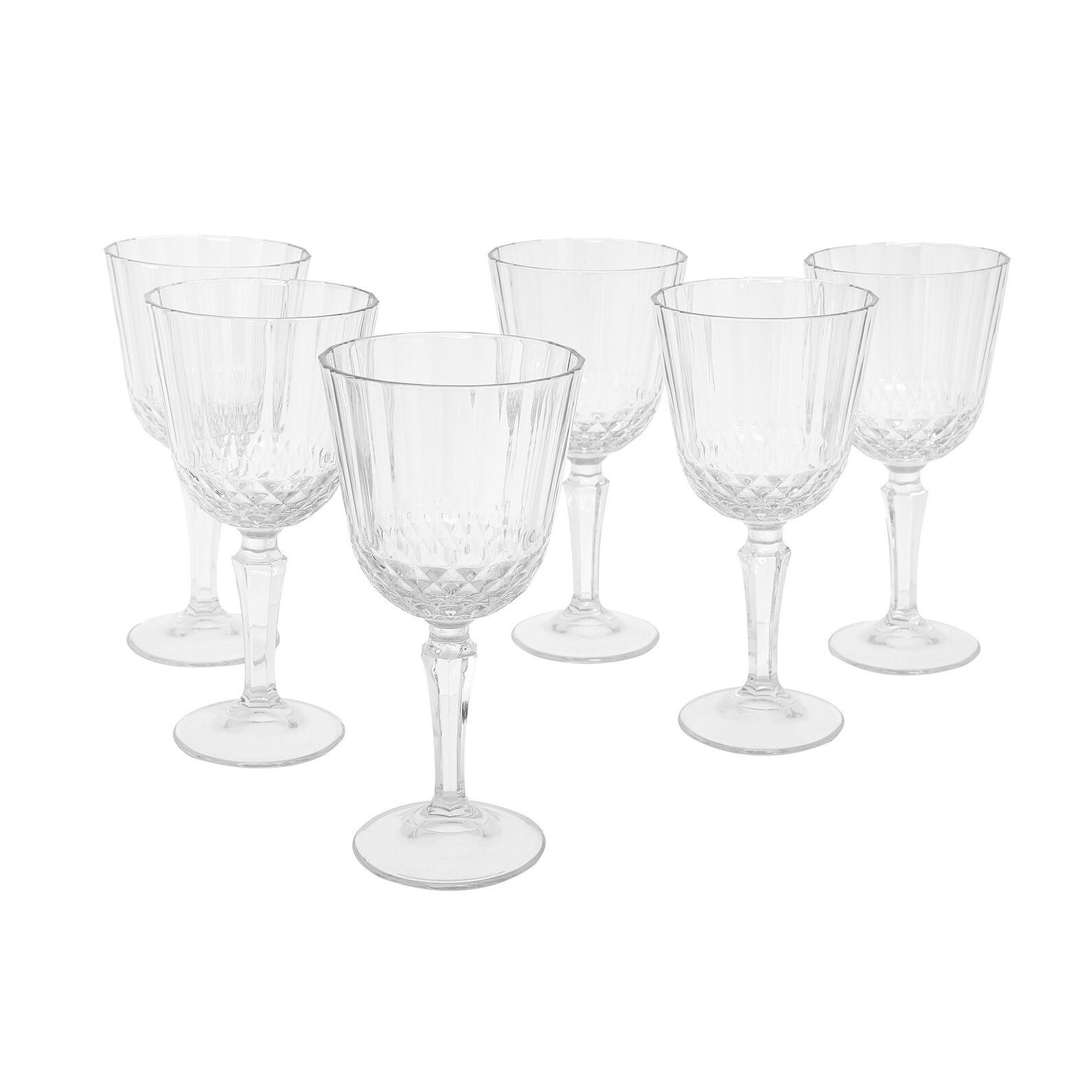 Set of 6 glass Diony water goblets