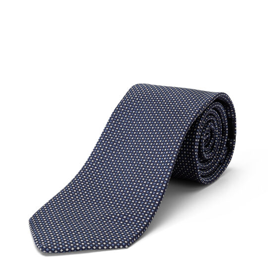 Pure siluomk tie with geometric pattern
