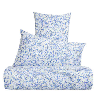 Cotton percale duvet cover with arabesque pattern