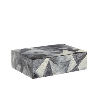 Handmade marble effect jewellery box