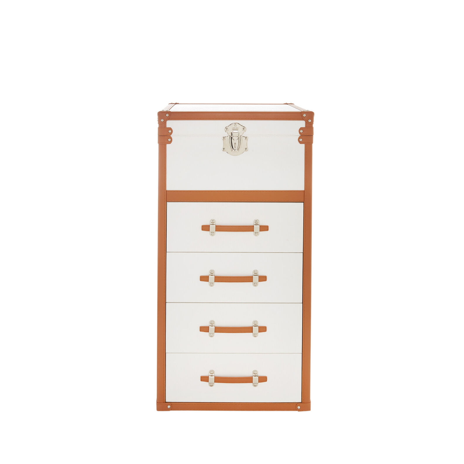 Baule leather-effect chest of drawers