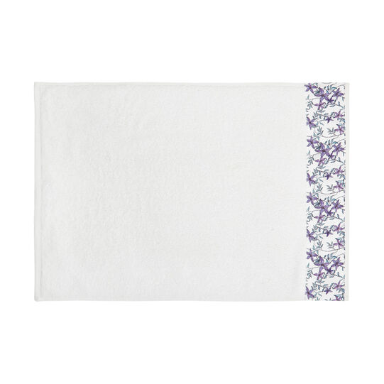 Cotton terry towel with floral frill