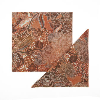 Set 2 tovaglioli puro cotone stampa foulard