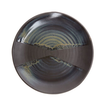 Portuguese decorative ceramic plate reactive enamel finish