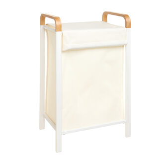Laundry basket in iron and bamboo