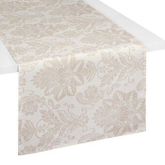 100% cotton table runner with damask print