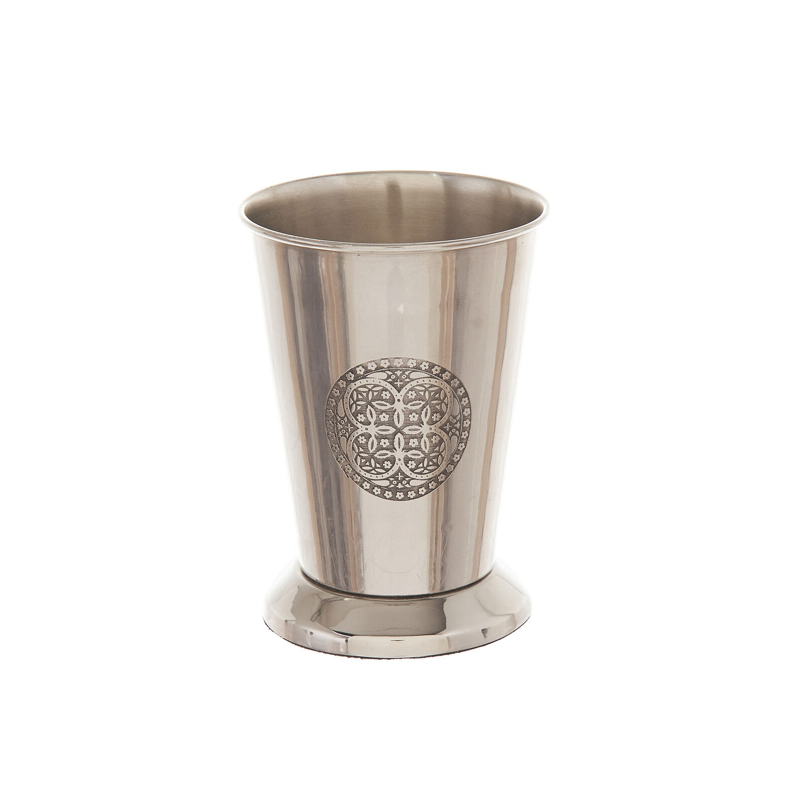 Engraved steel toothbrush holder