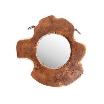 Mirror in teak wood