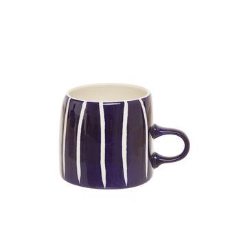 Mug ceramica a righe