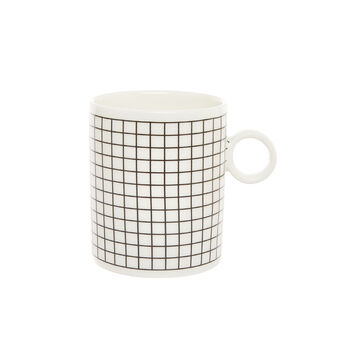Plaid ceramic mug
