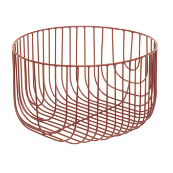 Mesh basket in enamelled aluminium