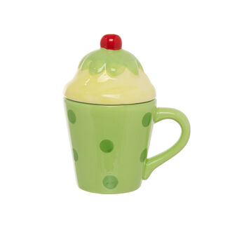 Cupcake-shaped ceramic mug