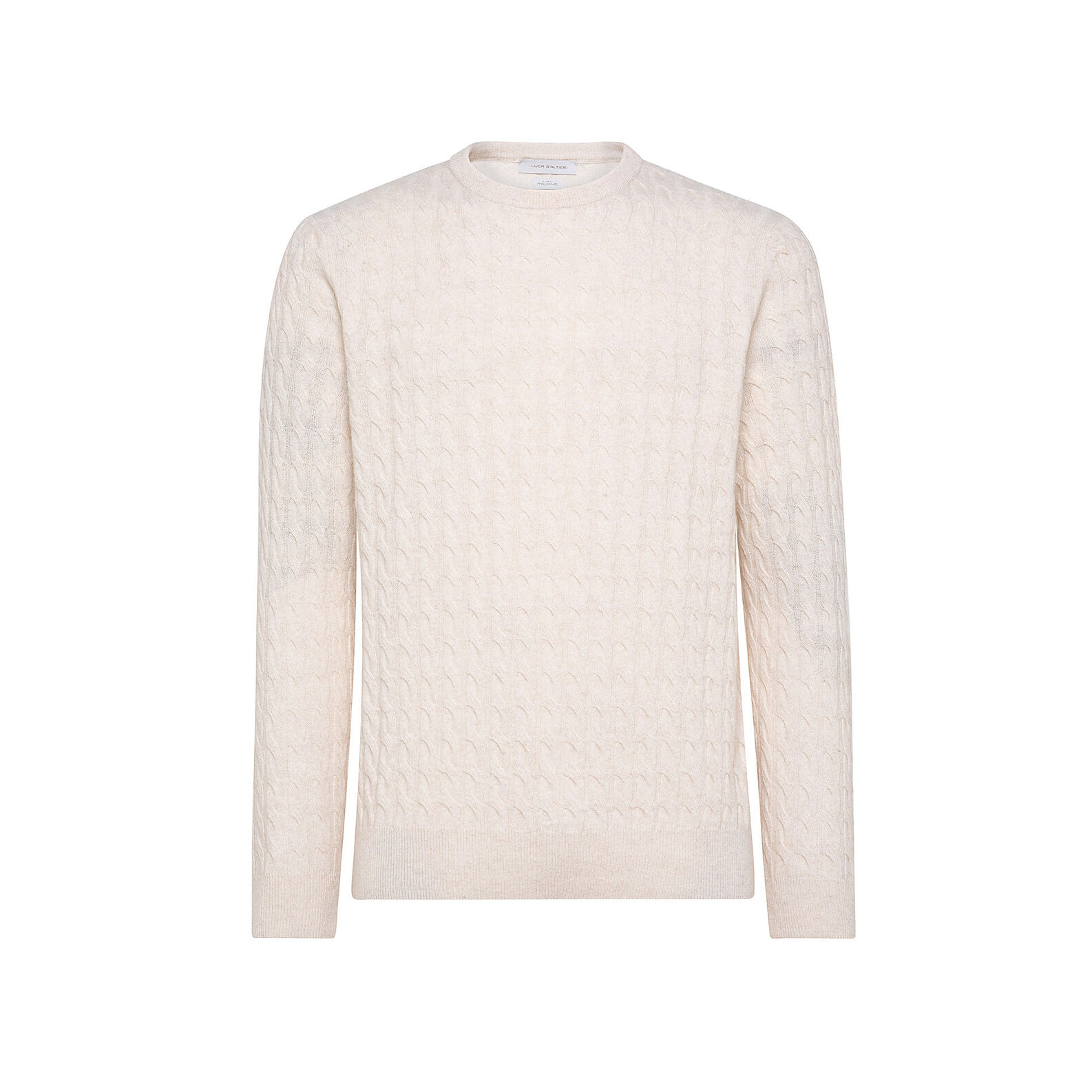 Cable knit pullover in cashmere blend