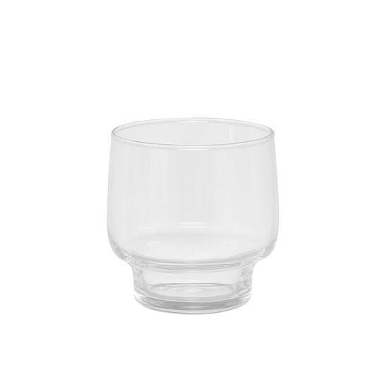 Set of 3 transparent glass tumblers