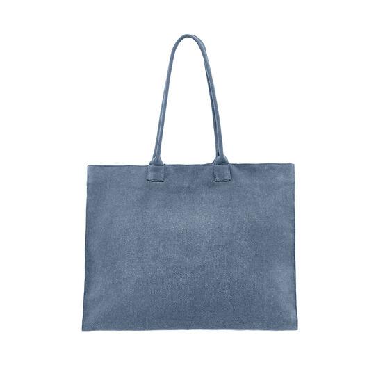 Maxi borsa da spiaggia in tela di cotone