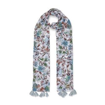 Koan ramage print scarf