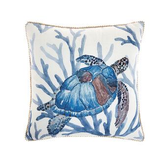 Cushion turtle print 45x45cm