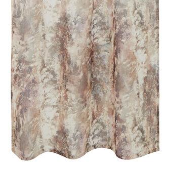Linen blend curtain with degradé print and hidden tabs