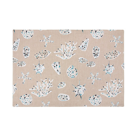 100% cotton table mat with shell print