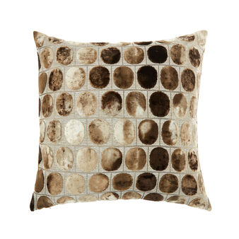 Velvet and viscose blend cushion (50x50cm)