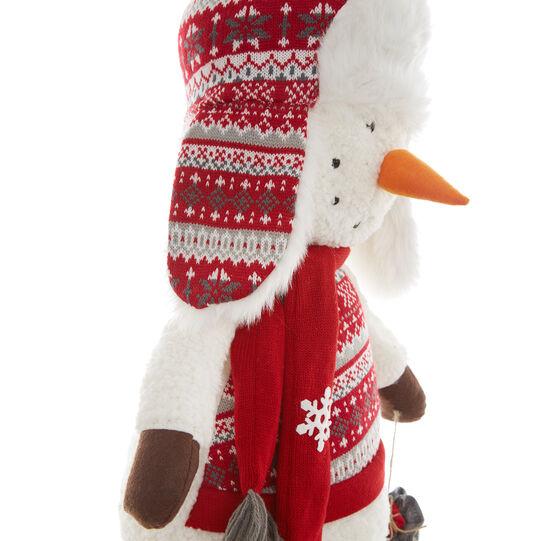 Decorative snowman soft toy