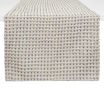 Waffle weave table runner in 100% cotton