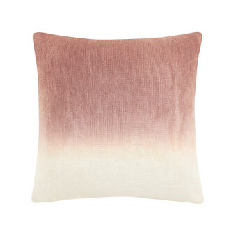 Cushion with nuanced wool effect
