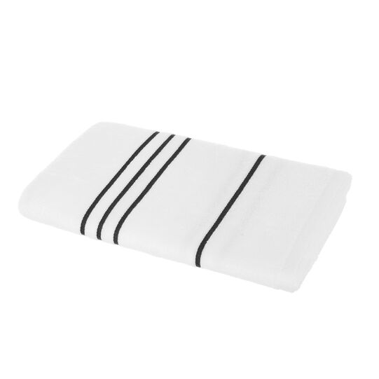 Striped jacquard towel in 100% cotton