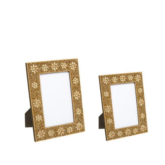 Portafoto decorato a mano con perline