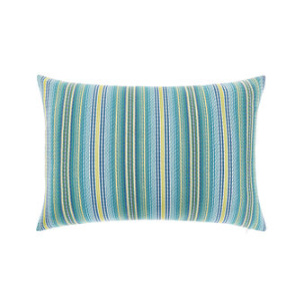 Jacquard striped cushion