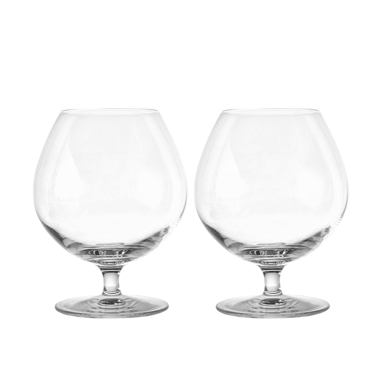 Set 2 calici brandy in vetro
