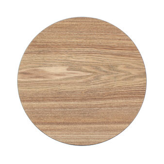 Wood effect plate charger