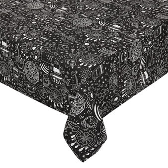 100% cotton tablecloth with food print