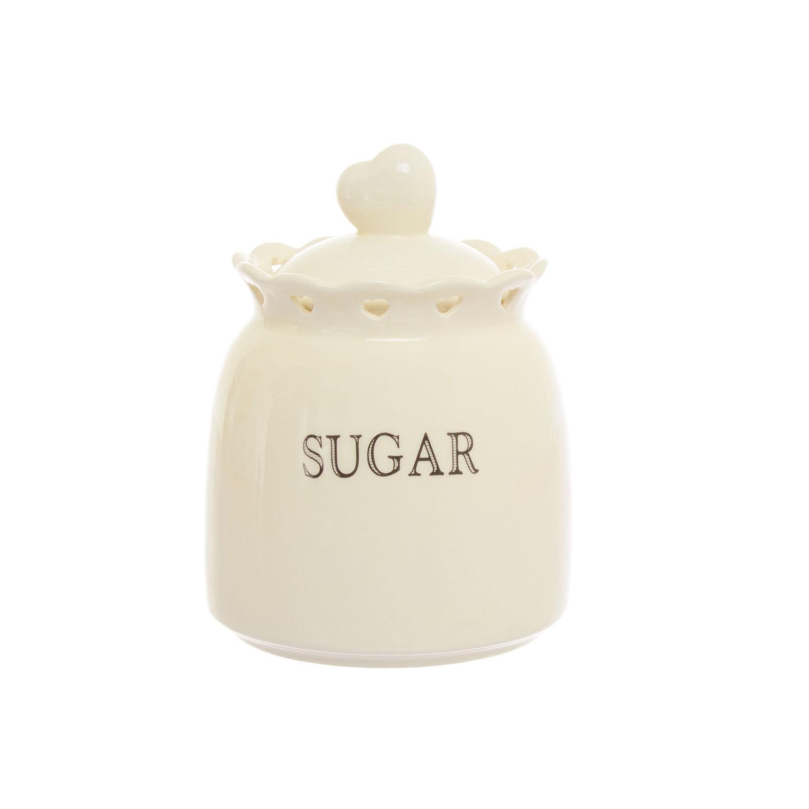Barattolo zucchero ceramica cuori traforati