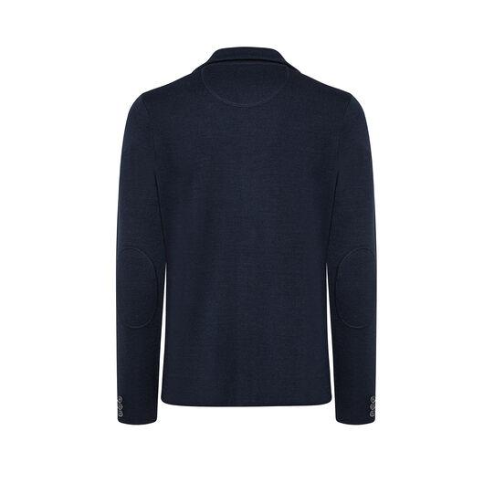 Blazer in maglia di misto lana tinta unita