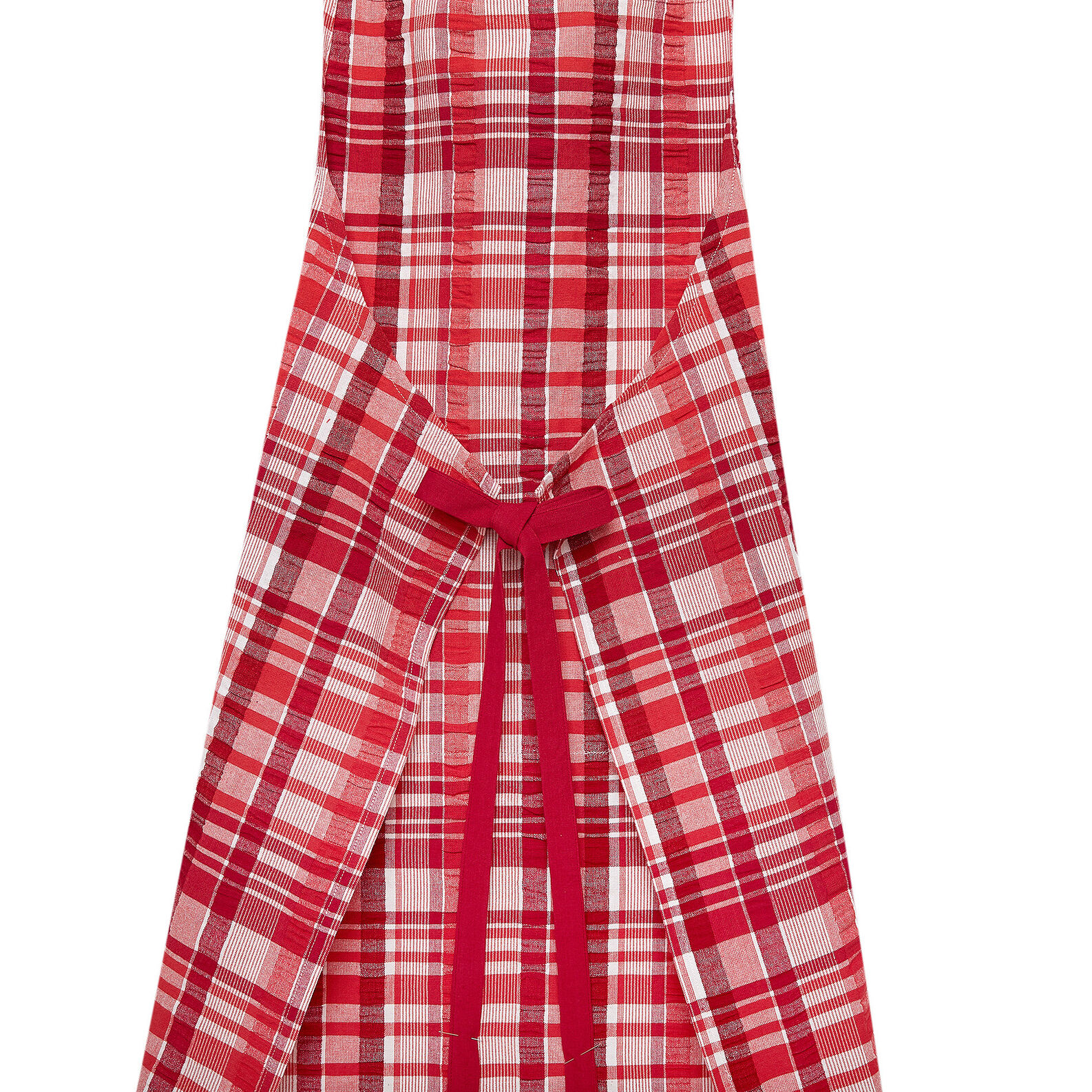 Apron in 100% cotton with check pattern