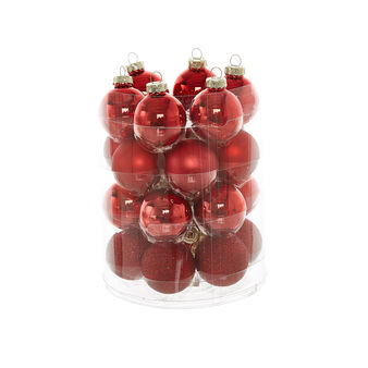 Set of 24 glass baubles D4cm