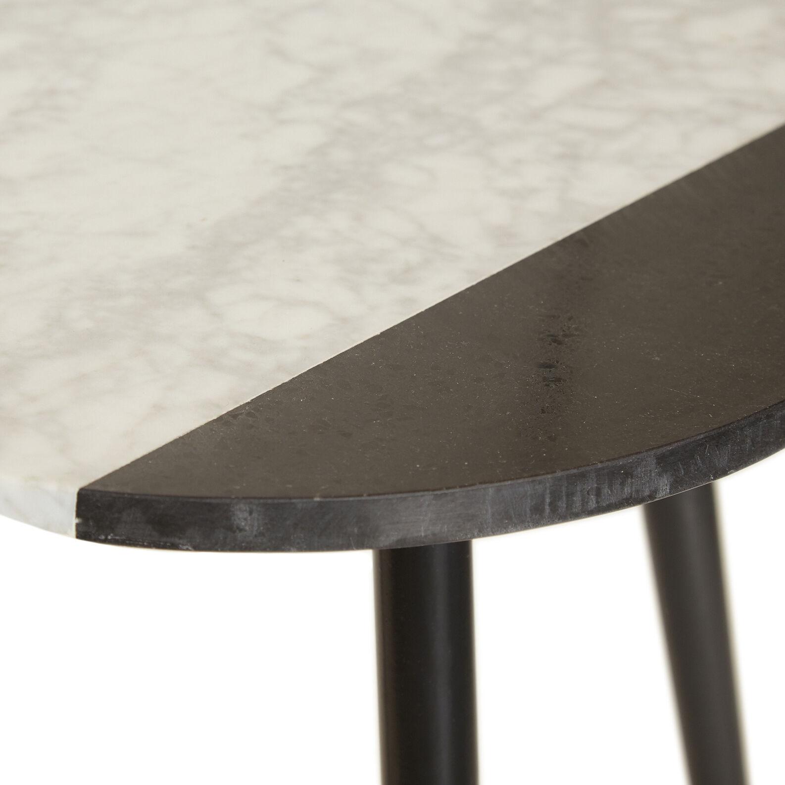 Tavolino in marmo White Eclipse
