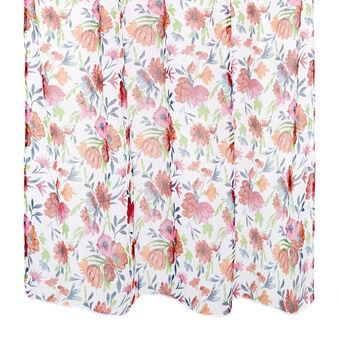 Flower print curtain