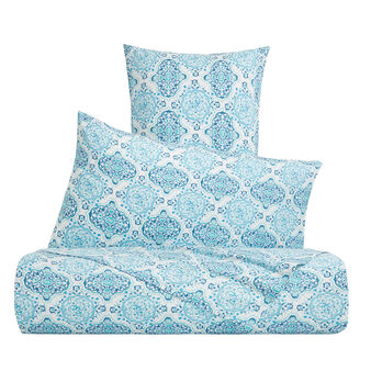 Cotton percale duvet cover with mosaic pattern